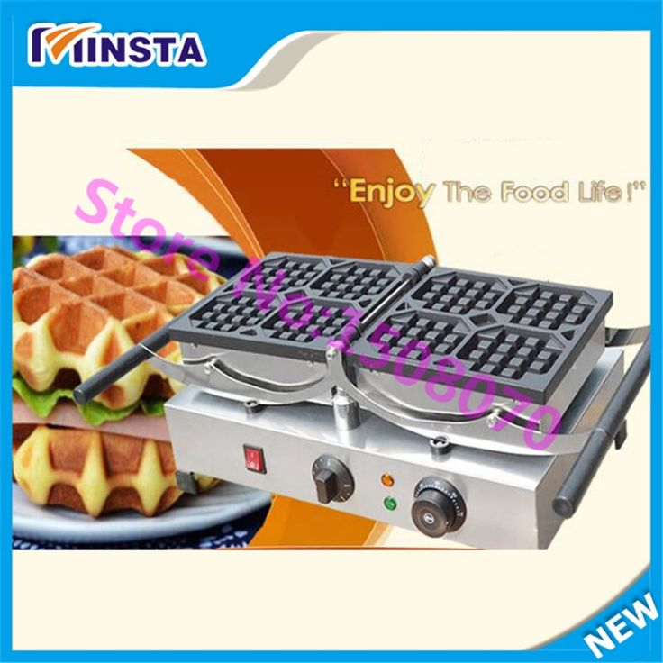 560.00$  Buy here - http://alikrb.worldwells.pw/go.php?t=32776810794 - High capacity commercial waffle cone machine electric big size waffle maker industrial square waffle machine