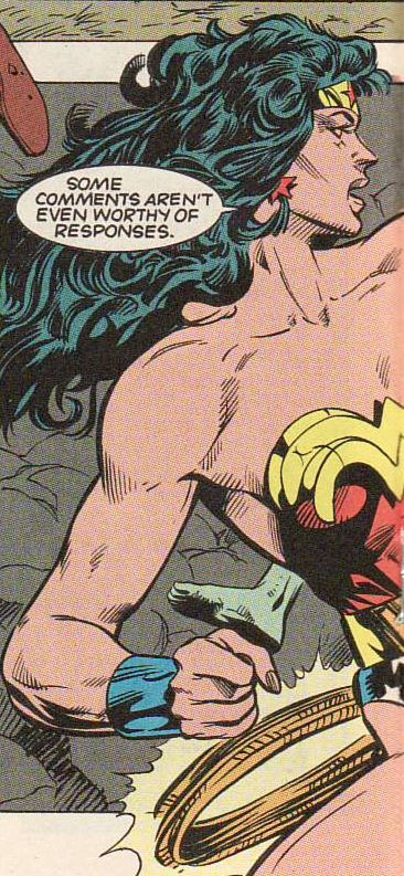 """Some comments aren't even worthy of responses."" - Wonderwoman knows how to deal with trolls ;)"