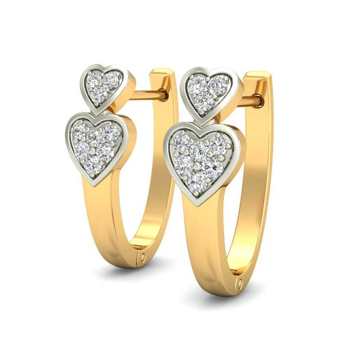Buy these beautiful heart shaped earrings NOW! only at jewels4u.in