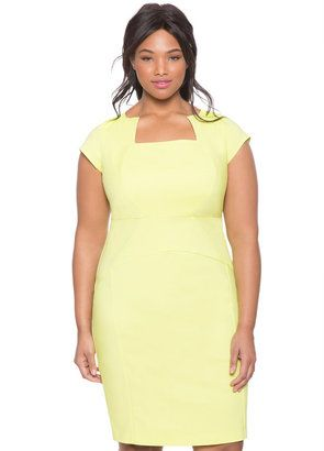 Shop Now - >  https://api.shopstyle.com/action/apiVisitRetailer?id=519241390&pid=uid6996-25233114-59 Plus Size Erika Sheath Dress  ...