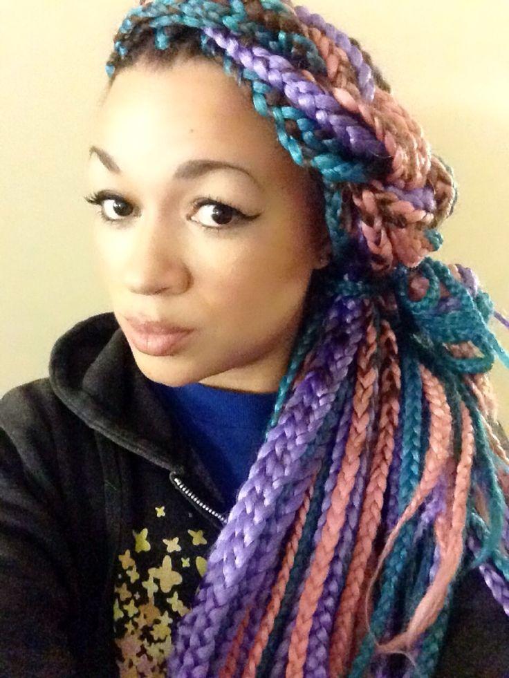 I Tried It Multi Colored Box Braids