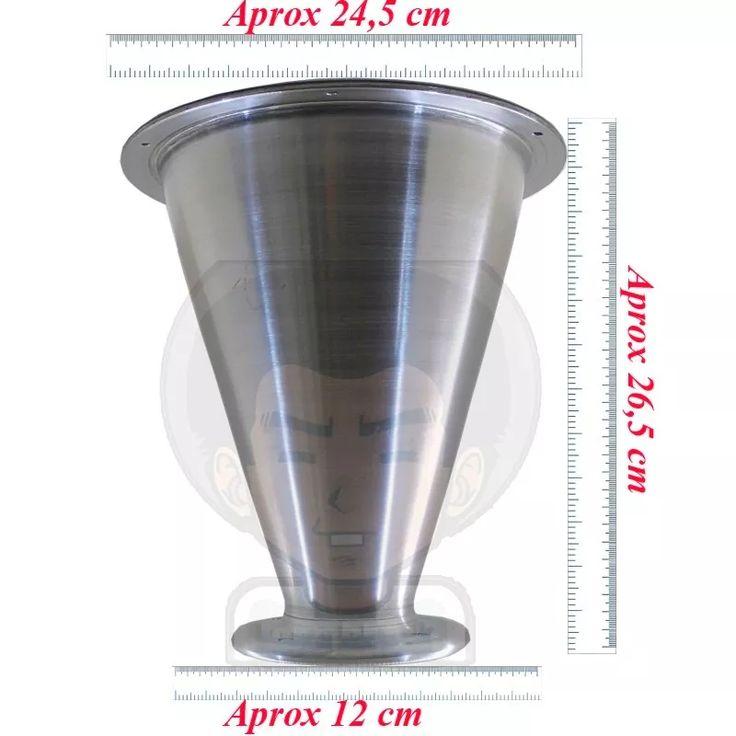 corneta cone jarrão parafuso alumínio polido p/ driver trio