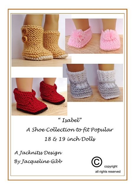 Isabel, a pattern for 4 Pairs of hand knitted Footwear