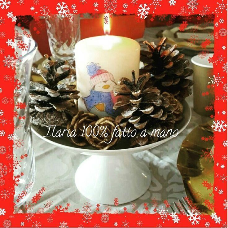 Una delle mie prime candele di Natale
