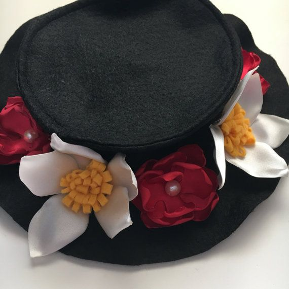 Mary Poppins Costume Hat - Play Dress Up, Halloween Costume, Impersonations, Mary Poppins, Bert and Mary Costumes, Cosplay