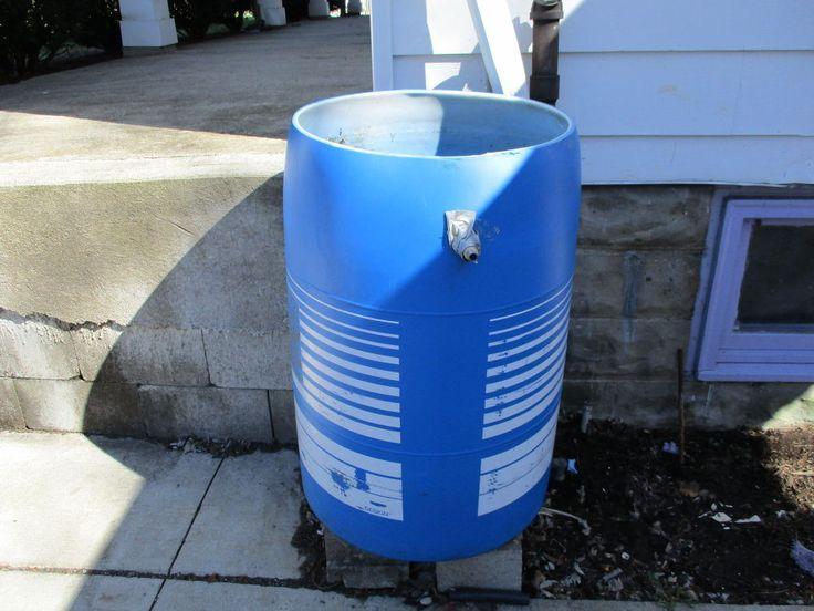 Re-purposed 55 Gallon Vinegar Barrel; Now Rain Water Collector