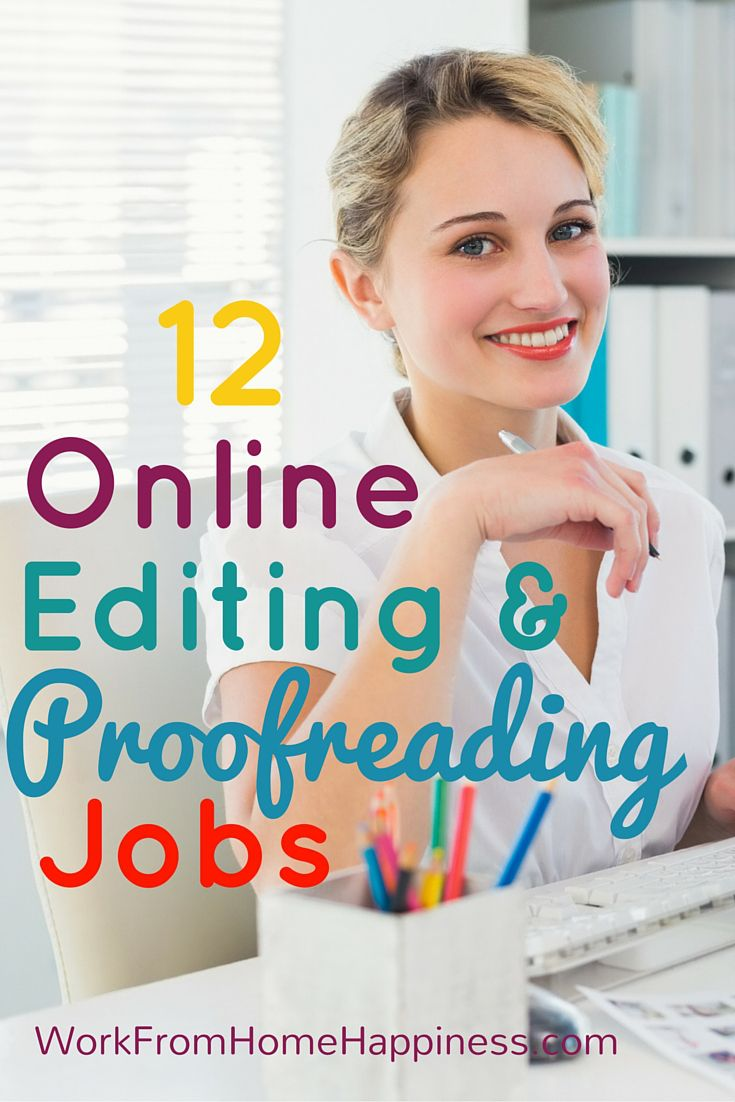 Do you know how to transform content from good to great? Work from home as an online editor or proofreader and help writers do their best work!