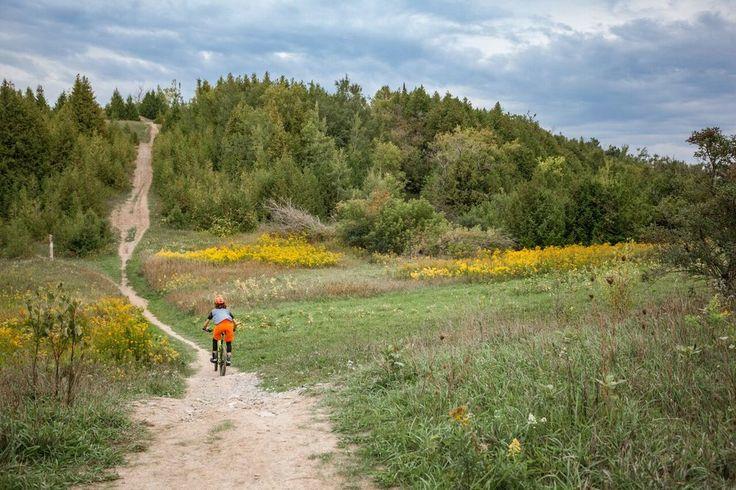 Biking at Harold Town conservation area, photo by Zach Baranowski