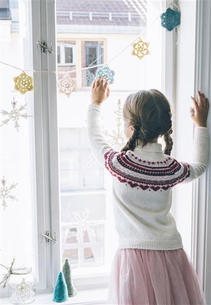 Tema 40: 15 og 16 Girlander #jul #strikk #christmas #knit