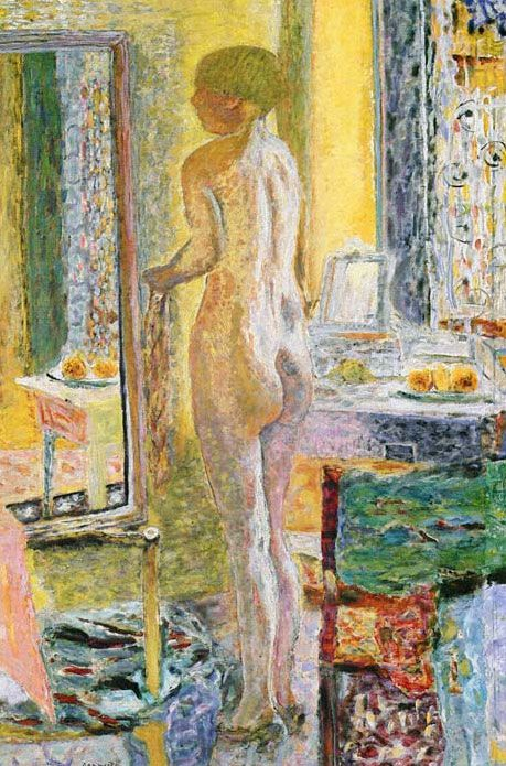 Nude Before a Mirror - Pierre Bonnard