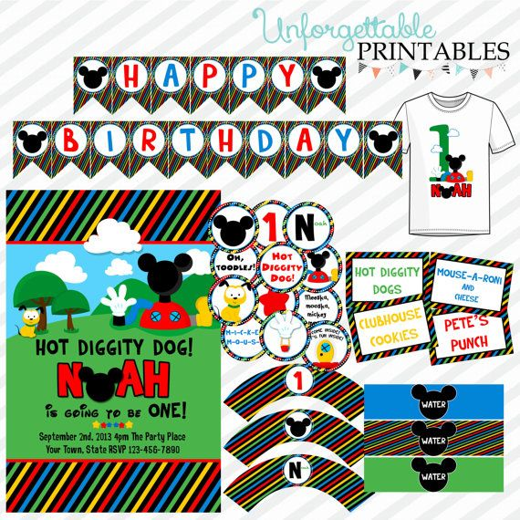 Mickey Mouse Clubhouse Birthday Party Printable Package