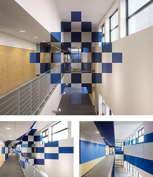 Rad Anamorphic Interior Design Illusions by Felice Varini