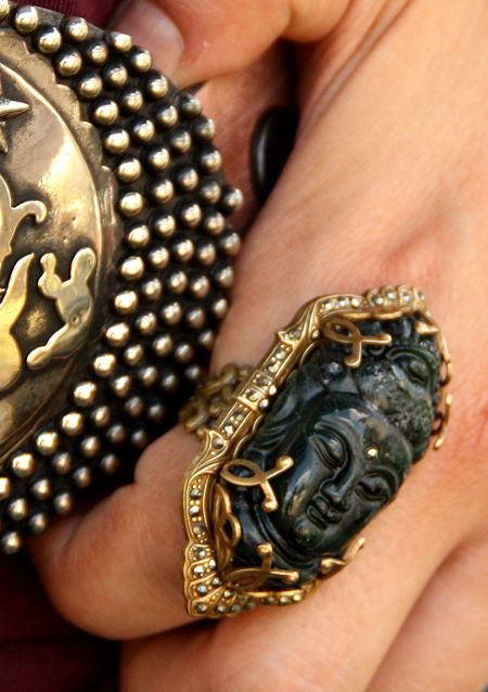 Gorgeous Buddha ring...From Sweet Romance Asian inspired collection.