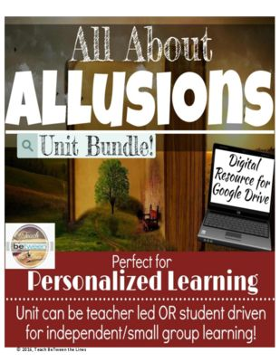 Allusions in Literature Unit Bundle from TeachBeTweentheLines on TeachersNotebook.com (50 pages)