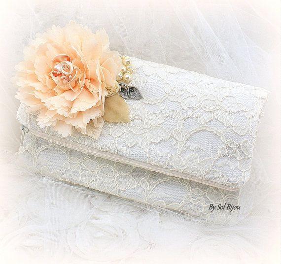Clutch Bridal Handbag Purse Mother of the Bride Maid by SolBijou