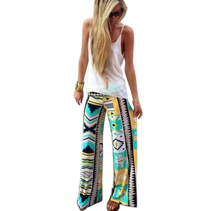 CHN'S Women Tribal Aztec Print Floral Casual Wide Leg Long Pants Palazzo Trouser. 100%New and high quality. Color: Green. The size of all the product in our store is measured by hands, pls read it before purchasing. The detailed size info. pls see the following product description . The product will be sent out with tracking No. at the same day you order from us, you will get it in 7-15 days. Women, Wide Leg, Tribal Aztec Printed, Fold Over Waist, Floral, Loose, Casual Long Pants perfect…