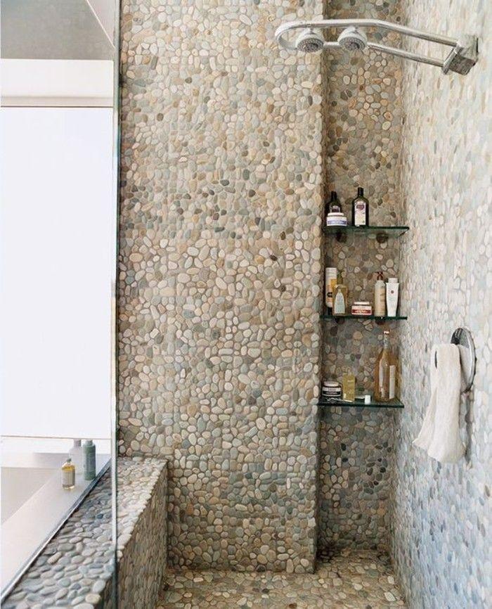 carrelage galet pour la salle de bain moderne et chic