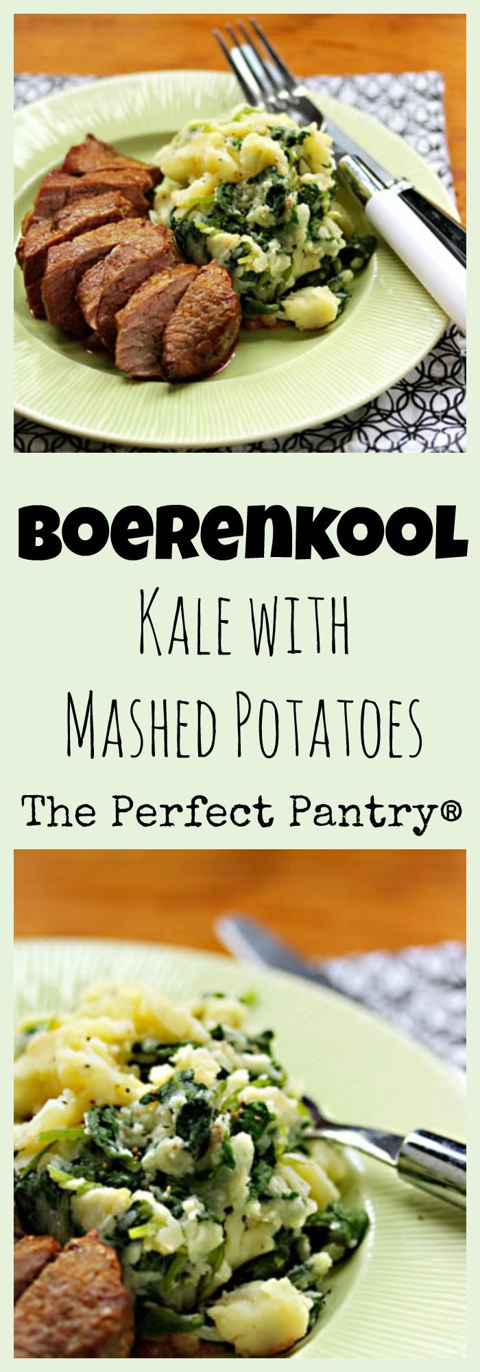 Boerenkool (kale with mashed potatoes), an easy side dish. #vegetarian ...