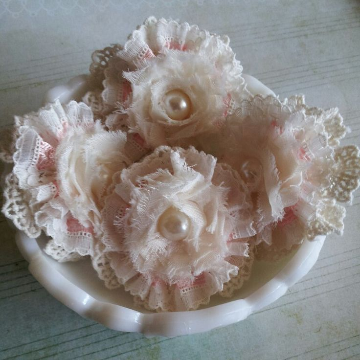 Lace/Rosette Flowers created by Bona Rivera-Tran.