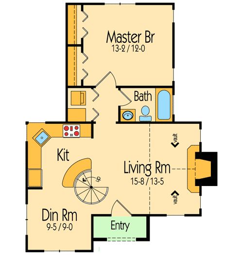 1000 Ideas About 1 Bedroom House Plans On Pinterest Tiny House Plans Small Cottage Plans And