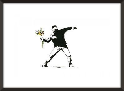 Banksy FLOWER THROWER Street Graffiti Wall Art Decor Reprint Not Framed 18x24 | eBay