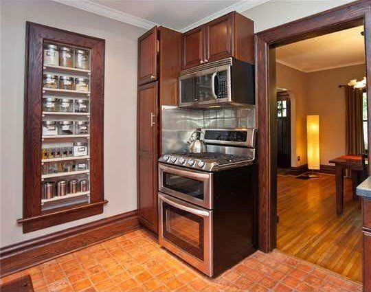 Kitchen Storage Between the Studs: 5 Examples of Smart Recessed Cabinets