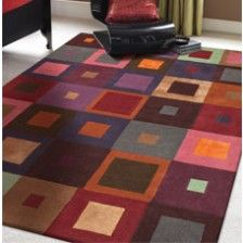 Carre Red Rug