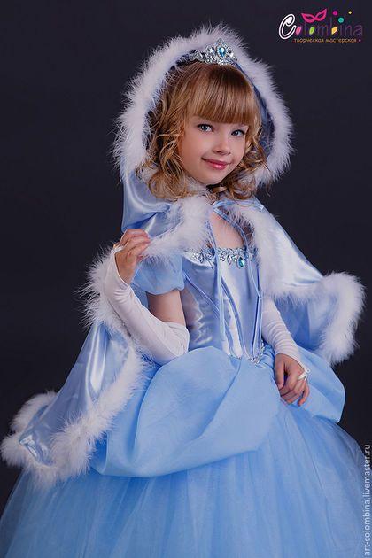 Купить или заказать Костюм Золушки в интернет-магазине на Ярмарке Мастеров. карнавальный костюм Золушки для девочки. Золушка на балу комплектация: платье, корона, перчатки 134-146+400…