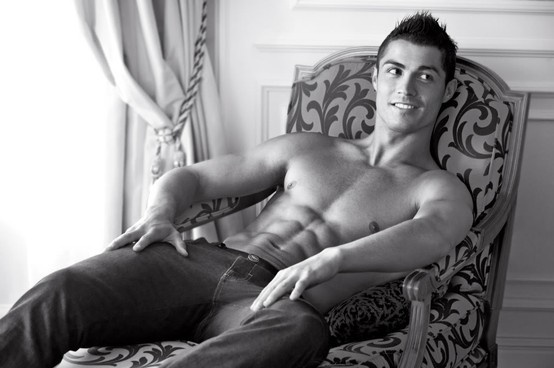 Cristiano Ronaldo - I don't know who he is and I don't even care!!!! Gah! That's just a beautiful man!
