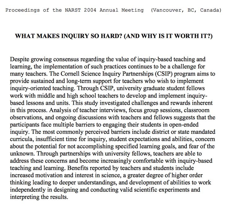 What makes inquiry so hard? (And why is it worth it?)