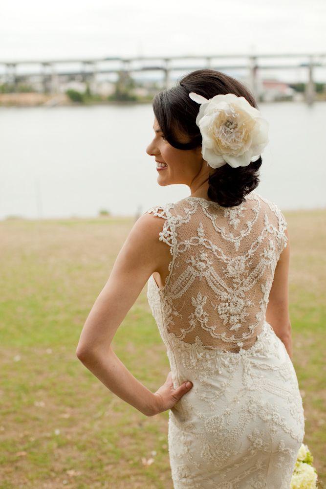 lace back: Wedding Dressses, Clear Pettibone, Wedding Dresses, Hair Pieces, Lace Back, The Dresses, Lace Dresses, Vintage Style, Vows Renewals