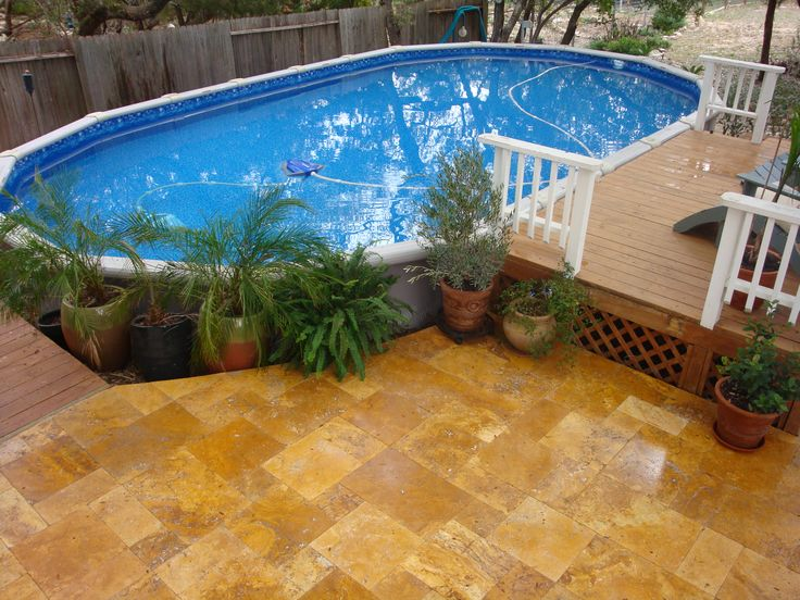 9 best images about above ground pools on pinterest - Above ground pools for small backyards ...
