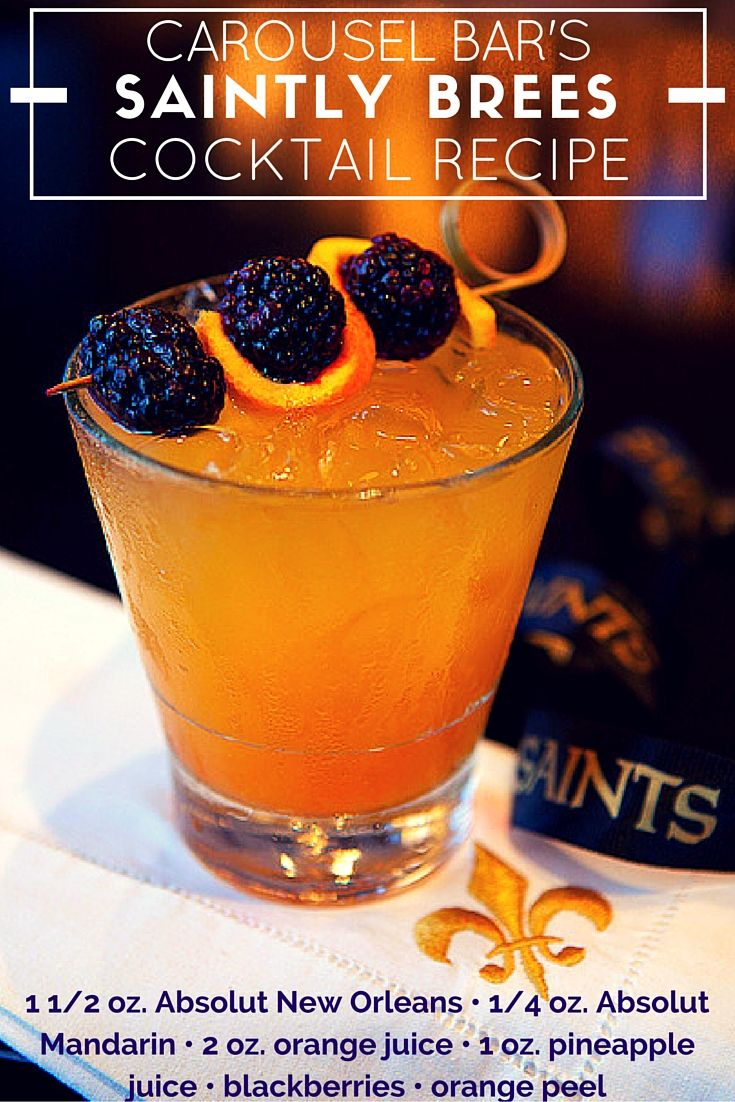 The Carousel Bar's Spring Cocktail Recipe: Saintly Brees