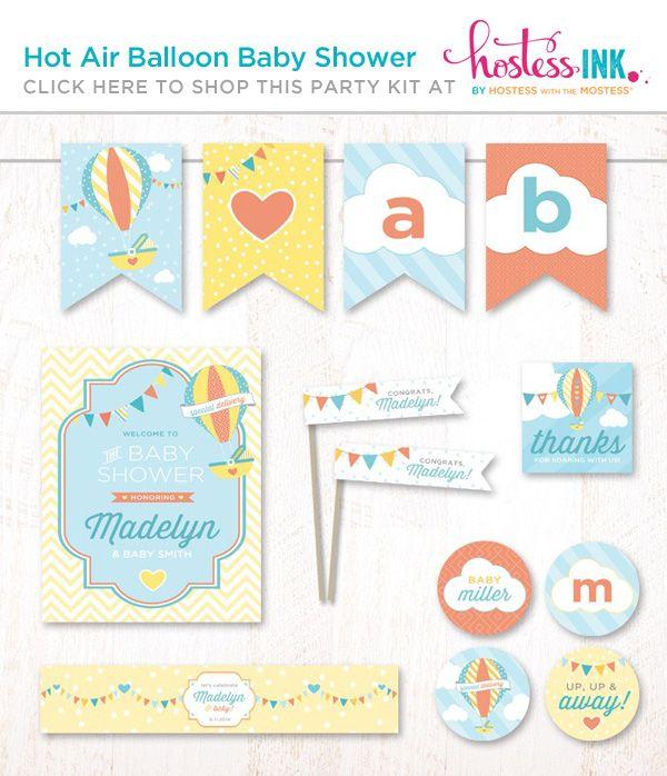 Hot Air Balloon Diaper Cake Tutorial + Free Printables!