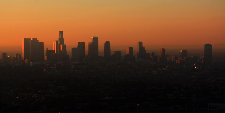 Downtown Los Angeles. (Sunrise view)