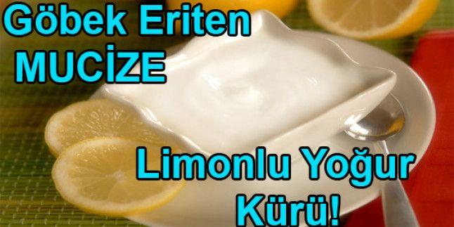 Bir Haftada Sarkmış Göbeği Eriten Mucizevi Limonlu Yoğurt Kürü!