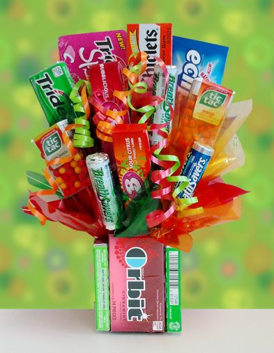 Orbit Gum and Candy Bouquet | Buy at All About Gifts & Baskets (http://www.aagiftsandbaskets.com/orbit_gum_and_candy_bouquet.html)