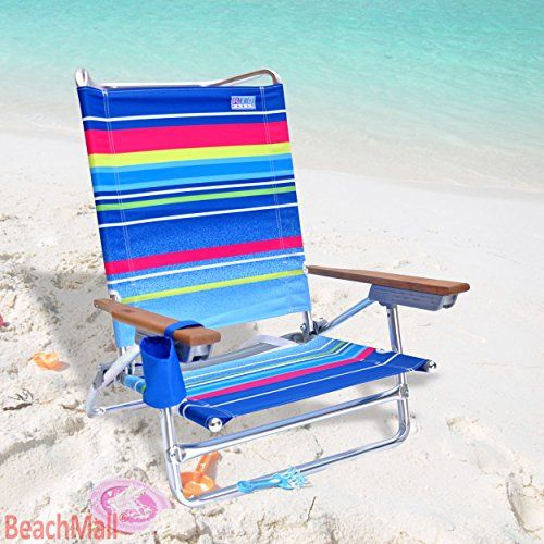 High Back Aluminum Rio Beach Chair - 5 position LayFlat - Set of 2 Chairs * Continue with the details at the image link. #CampingFurniture