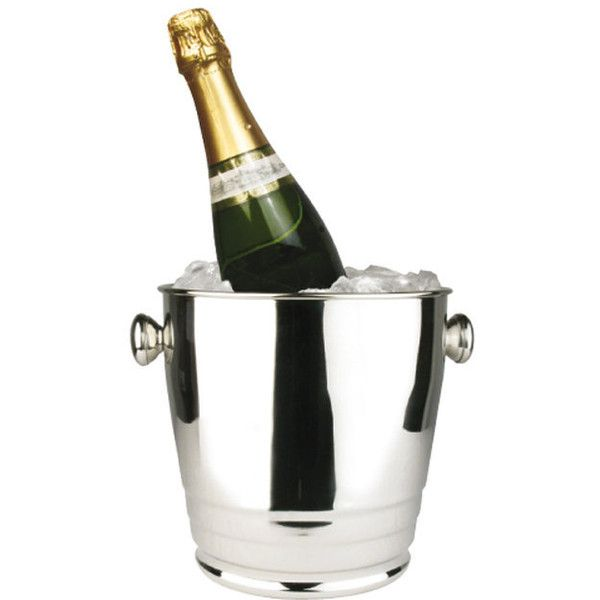 Winco 4-quart Wine Bucket (48 AUD) ❤ liked on Polyvore featuring home, kitchen & dining, bar tools, silver, champagne wine cooler, ice wine chiller, champagne bucket, ice bucket and wine-bucket