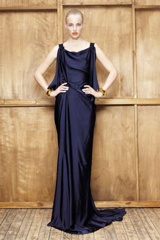 Vionnet indigo drape dress, R2012