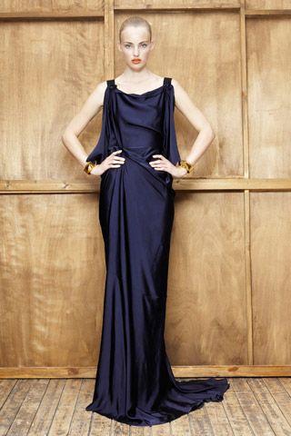 Vionnet indigo drape dress, R2012