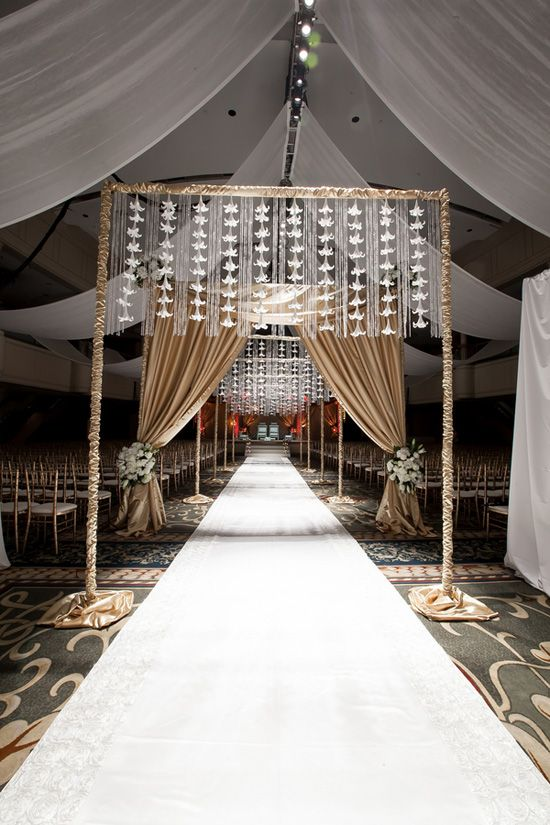 down the aisle Real Indian Wedding: Neha Raj (Part 1 of 2) Simple entrance arch