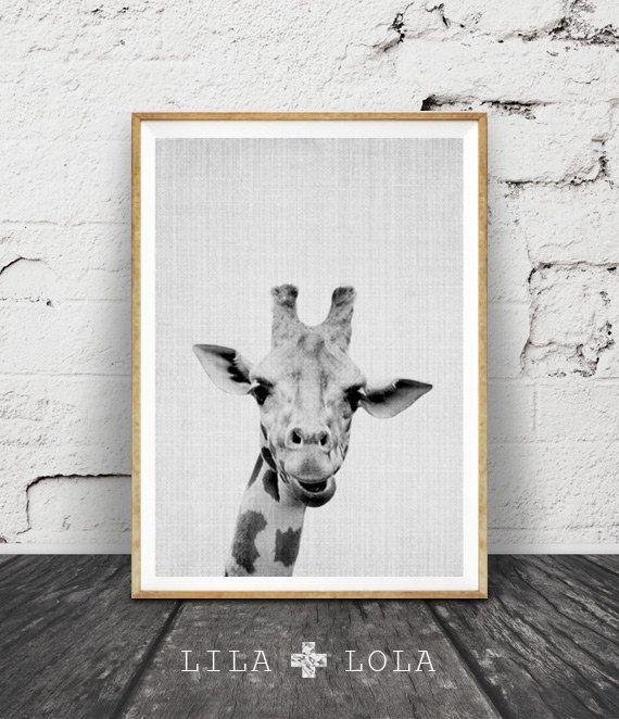 Die Giraffe Kids Kindergarten Tier Wandkunst von LILAxLOLA auf Etsy