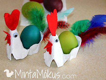 Kreatív kézműves játékok óvodás korú gyerekeknek húsvétra