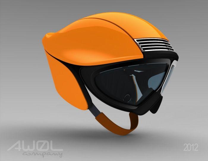 Late-60s Porsche 911 inspired Ski Helmet
