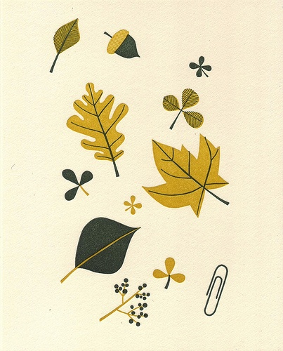 Leaves print by melinda josie