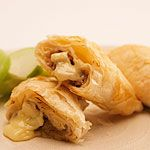 Brie, Apple and Walnut Phyllo Triangles (can be frozen ahead)