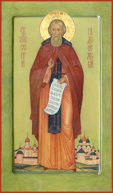 Св. Сергий Радонежский, Мерная икона contemporary russian orthodox icons