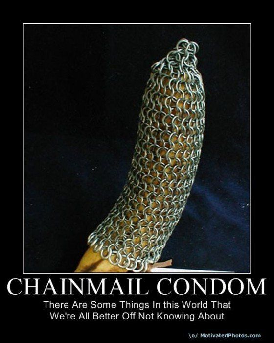 Chainmail Condom When Normal Condoms Dont Protect In The