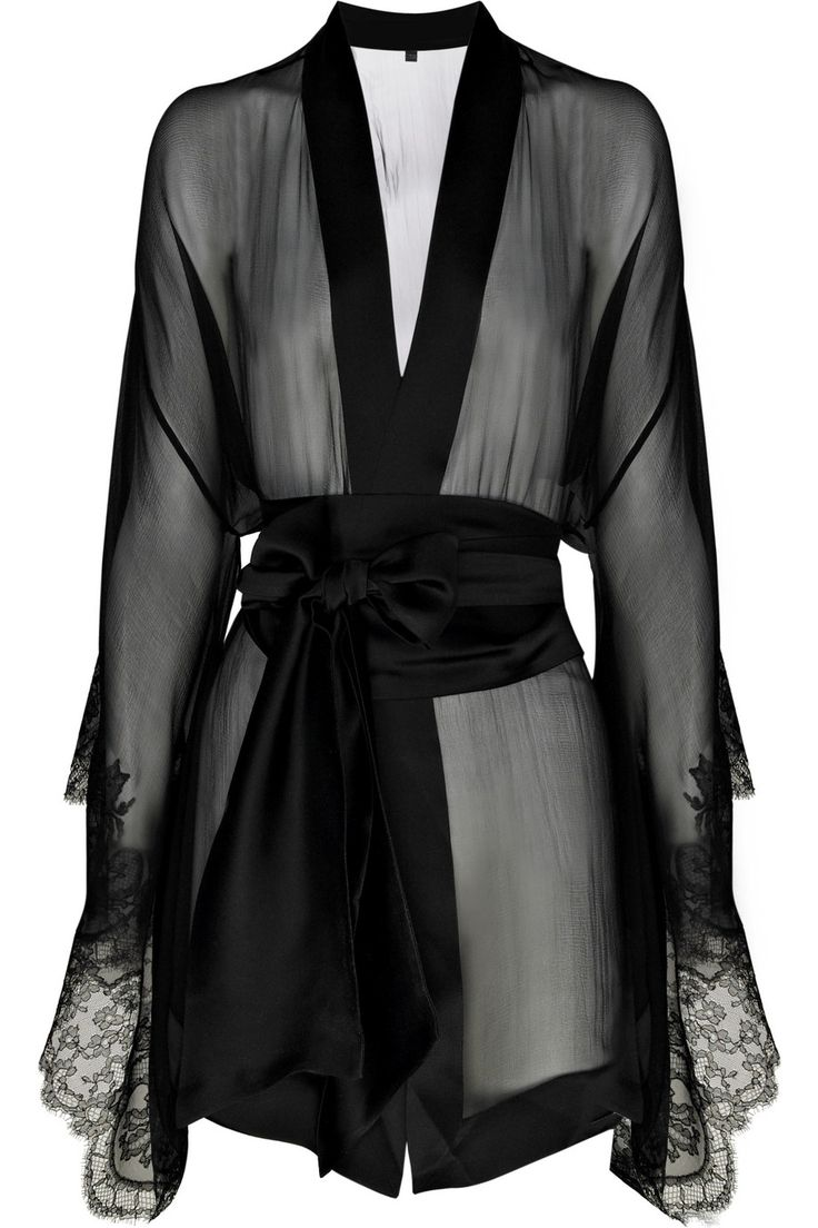 I would never spend anywhere near this amount on any piece of clothing but damn that's hot! CARINE GILSON Frou Frou silk-chiffon kimono $1,345